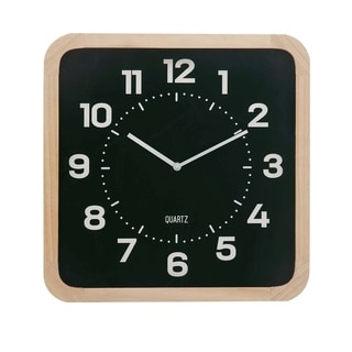 Studio 350 Wood Wall Clock 15 inches wide, 15 inches high