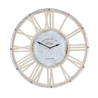 Studio 350 Metal Wood Wall Clock 24 inches D