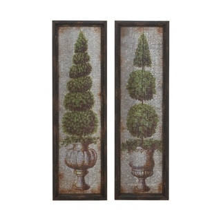Studio 350 Metal Wood Wall Decor Set of 2, 16 inches wide, 53 inches high