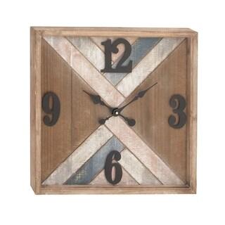 Carson Carrington Alavus Metal Wood Wall Clock