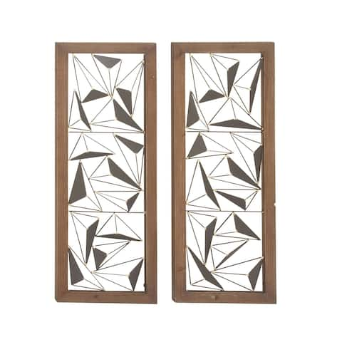 Carson Carrington Orivesi 2-piece Wood Metal Wall Decor Set