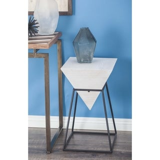 Studio 350 Wood Metal Square Accent Table 14 inches wide, 24 inches high