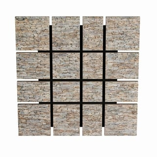 Studio 350 Wood Inlay Wall Decor 36 inches wide, 36 inches high