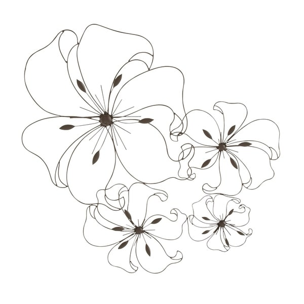 Shop Havenside Home Buckroe Floral Metal Wall Decor (32\'\' X 26 ...