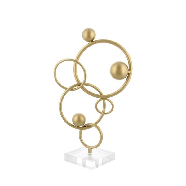 Carson Carrington Give Metal Circle Acrylic Sculpture