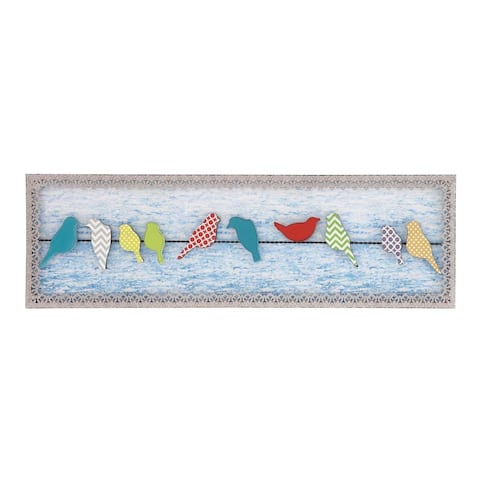 The Gray Barn Jartop Birds on A Wire Metal and Wood Wall Decor