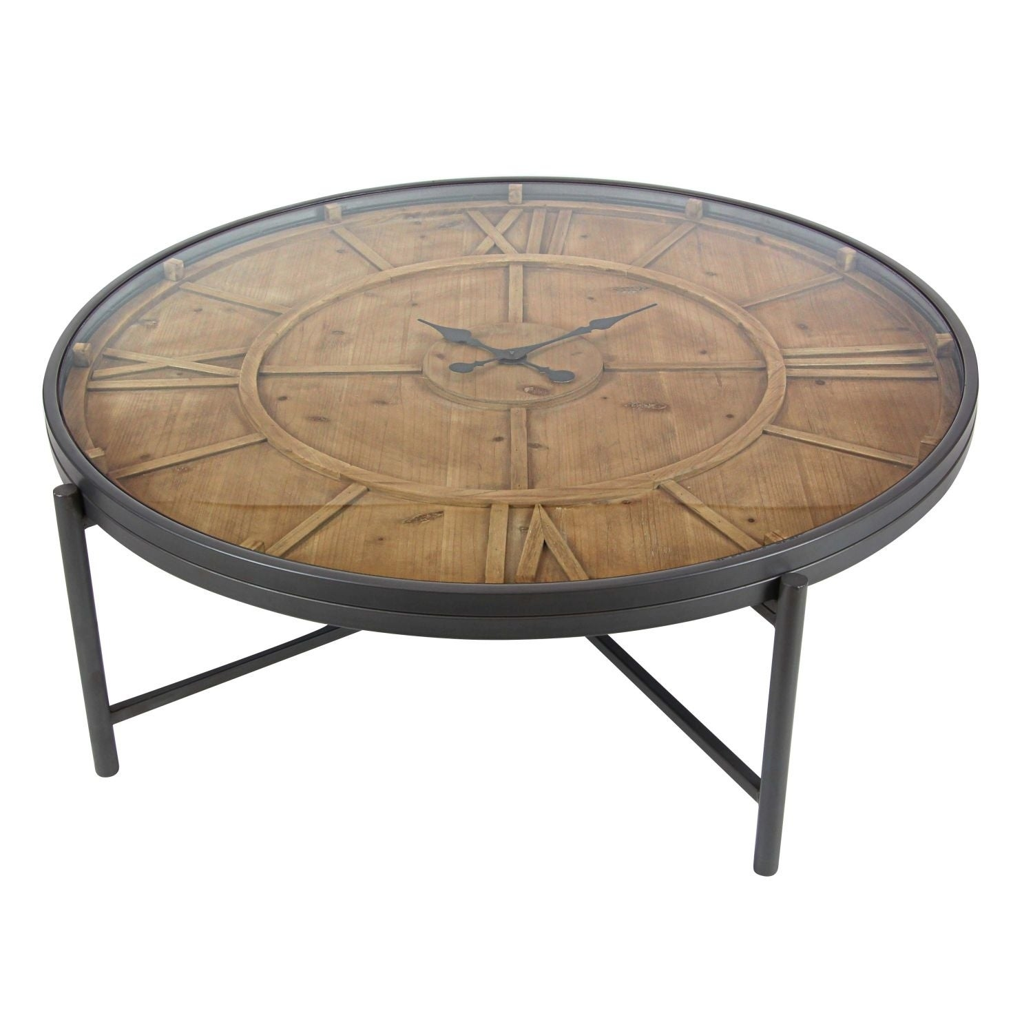 Clock Coffee Table 41 Inches Wide