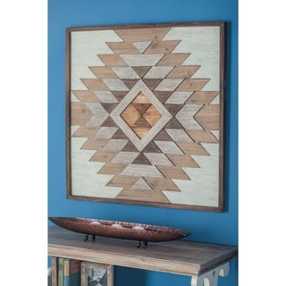 Studio 350 Wood Wall Plaque 32 inches wide, 32 inches high