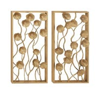 Studio 350 Metal Wall Decor Set of 2, 16 inches wide, 32 inches high