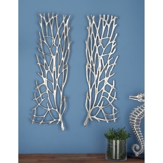 Studio 350 Aluminum Wall Decor Set of 2, 10 inches wide, 34 inches high