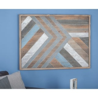 Studio 350 Wood Wall Plaque 40 inches wide, 30 inches high - Multi-color