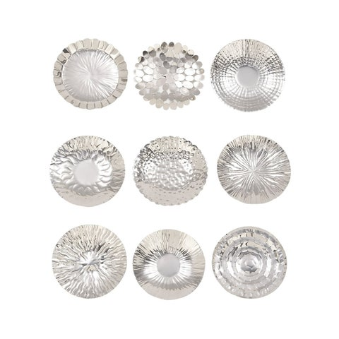 Studio 350 Stainless Steel Wall Platter Set of 9 12 inches D