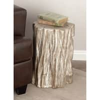 Eclectic 19 x 13 Inch Tree Trunk Fiberglass Foot Stool by Studio 350