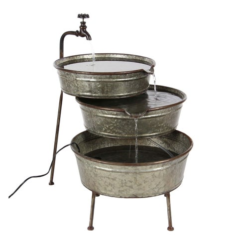 Studio 350 Metal Fountain 30 inches wide, 26 inches high