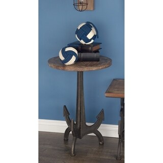 Studio 350 Metal Wood Anchor Table 18 inches wide, 26 inches high