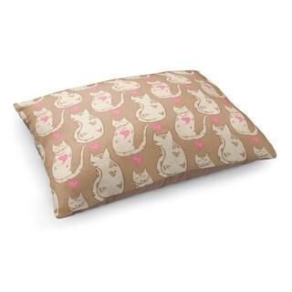 Kavka Designs Brown/Tan/Pink Doodle Cat Pet Bed
