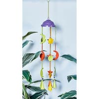 Eclectic 32 x 5 Inch Celestial-Inspired Iron Windchime by Studio 350
