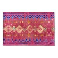 Kavka Designs Pink/Blue Amalia Flat Weave Bath mat (2' x 3')