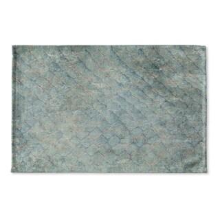 Kavka Designs Aqua Snake Skin Aqua Flat Weave Bath mat (2' x 3')