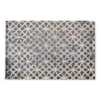 Kavka Designs Grey/Ivory Ellsha Blue Flat Weave Bath mat (2' x 3')