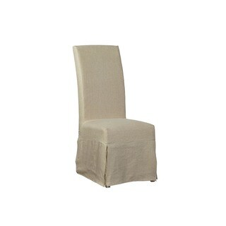 Marlett Draped Linen Parsons Chair (Set of 2)