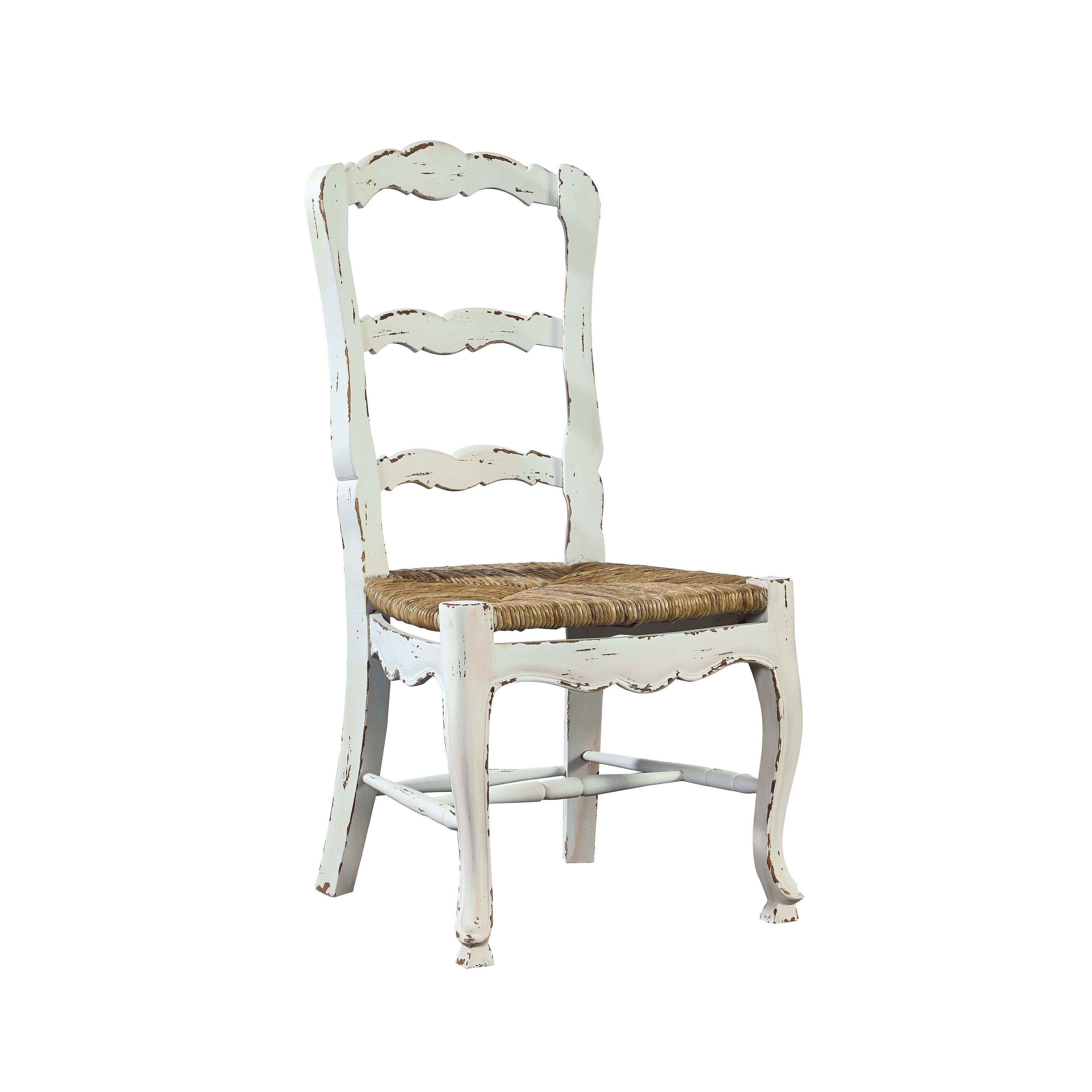 Common Home Provincial Ladderback Chair (Set of 2), White...