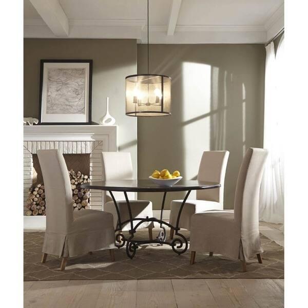 Outstanding Shop Marlett Skirted Linen Parsons Chair Set Of 2 Free Pdpeps Interior Chair Design Pdpepsorg