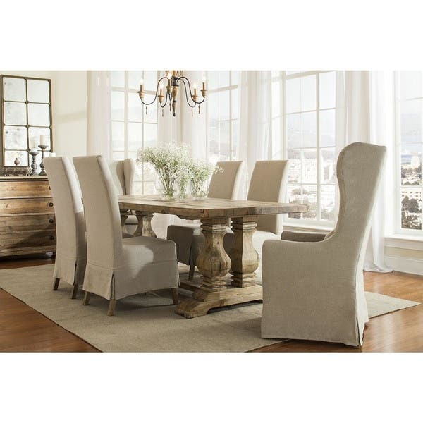 Wondrous Shop Marlett Skirted Linen Parsons Chair Set Of 2 Free Pdpeps Interior Chair Design Pdpepsorg