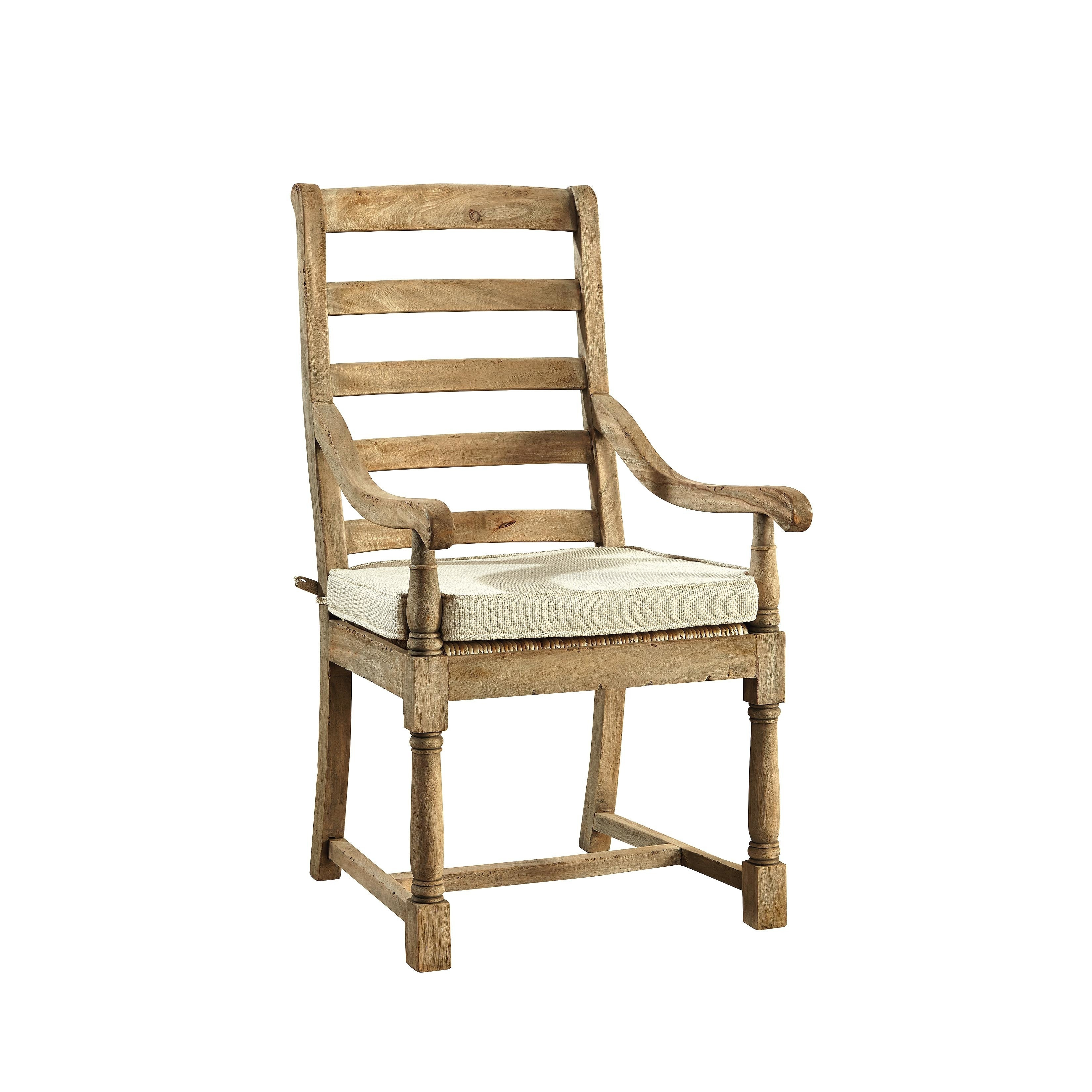 Common Home Provincial Country Ladderback Arm Chair (Set ...