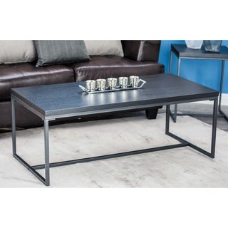Studio 350 Metal Wood Coffee Table 47 inches wide, 18 inches high