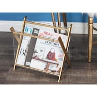 Studio 350 Metal Acrylic Magazin Holder 14 inches wide, 13 inches high