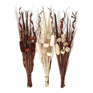 Studio 350 Dried Floral Bnch Set of 3, 40 inches high, 12 inches wide