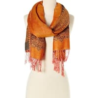 Stylish and Fashionable High Class Women's Scarf and Pashmina (Orange) … - Large