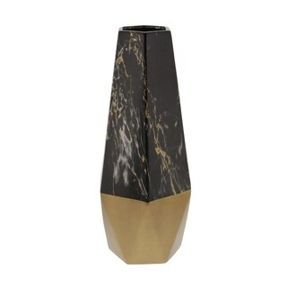 Studio 350 Ceramic Black Gold Vase 7 inches wide, 18 inches high