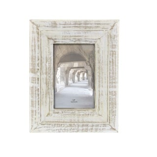 Havenside Home Buckroe White Distressed Wood Picture Frame (7'' x 9'')