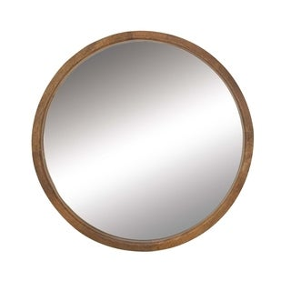 Studio 350 Wood Round Wall Mirror 36 inches D