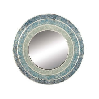 Studio 350 Wood Blue Mosaic Wall Mirror 30 inches D