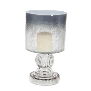The Gray Barn Joyful Stream Glass Candle Hurricane 6 inches wide, 10 inches high