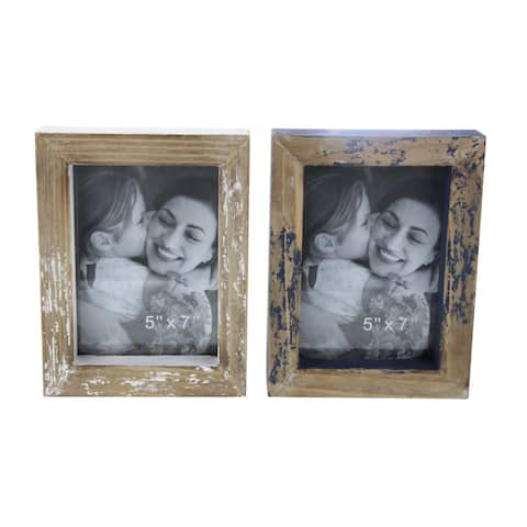 The Gray Barn Jartop Wood Photo Frame Set of 2, 6-inches wide, 8-inches high