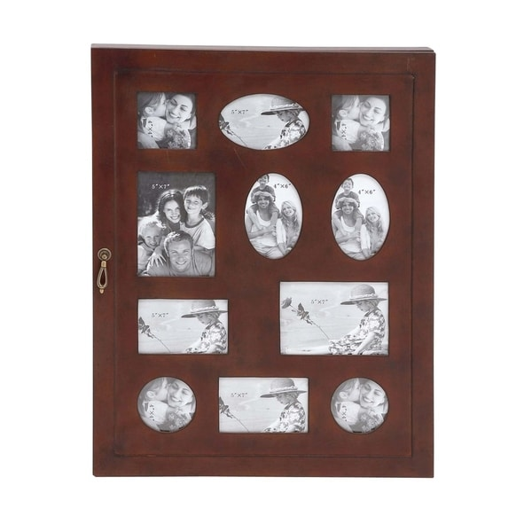 Studio 350 Wood Glass Wall Photo Cabinet 21 inches wide, 27