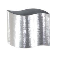 Silver Orchid Olivia Stainless Steel Vase 8 inches wide, 7 inches high