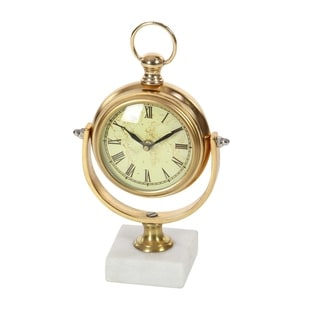 Copper Grove Chatfield Aluminum Marble Table Clock