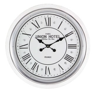 Studio 350 Wood Metal Wall Clock 24 inches D