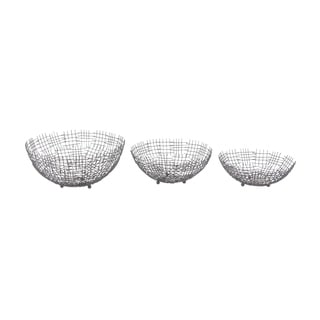 Studio 350 Metal Wire Bowl Set of 3, 14 inches, 15 inches, 18 inches wide