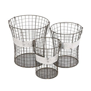 Studio 350 Metal Wire Basket Set of 3, 16 inches, 14 inches, 12 inches