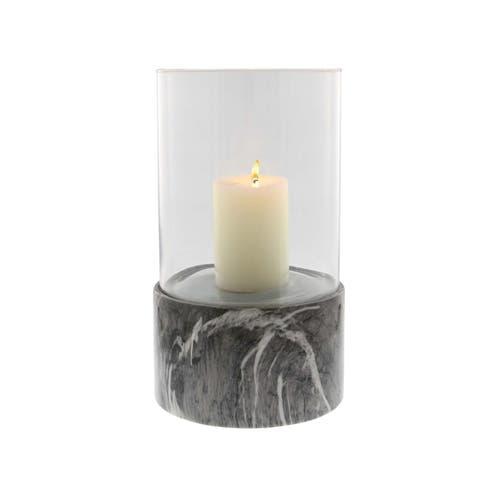Carson Carrington Alavus Ceramic Glass Grey 8 inches wide, 13 inches high