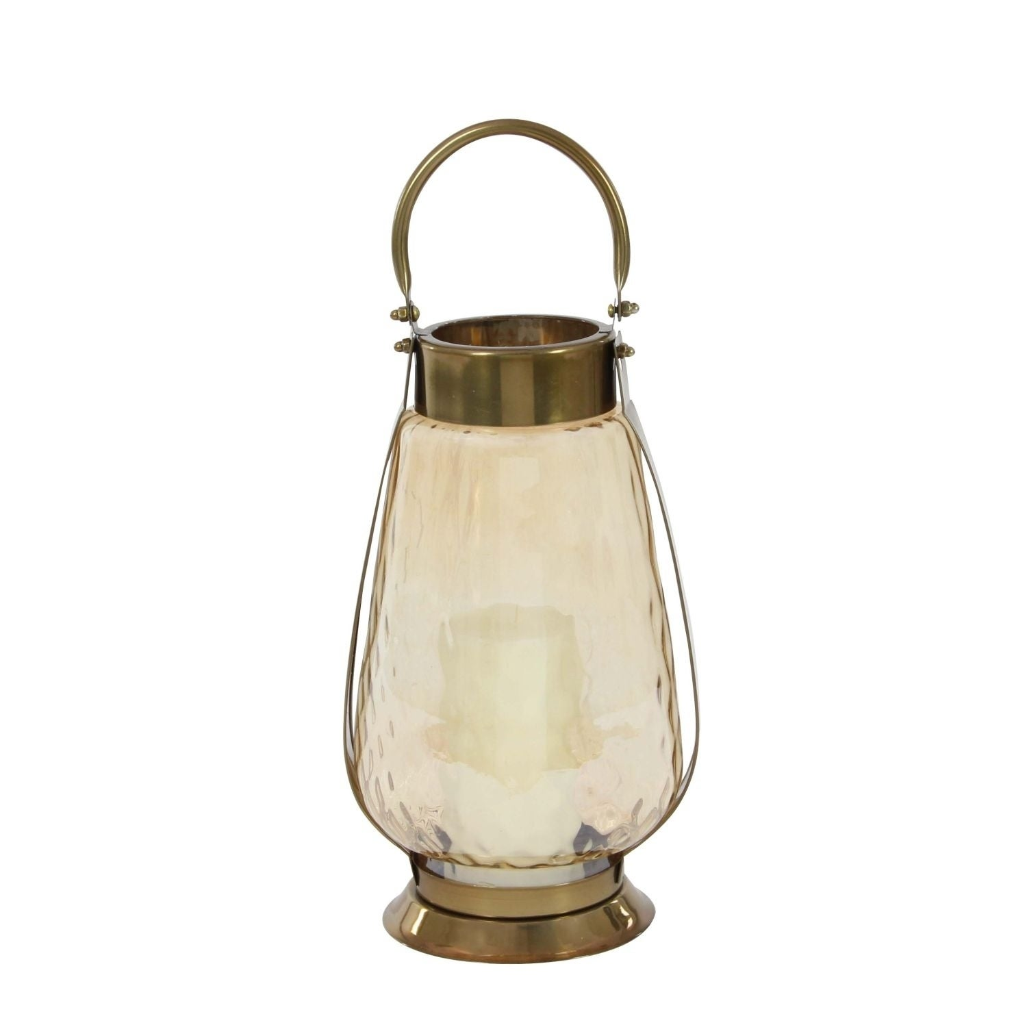 Studio 350 Stainless Steel Glass Lantern 7 inches wide, 1...