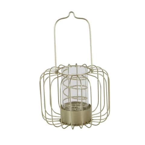 Studio 350 Metal Glass LED Lantern 9 inches wide, 12 inches high