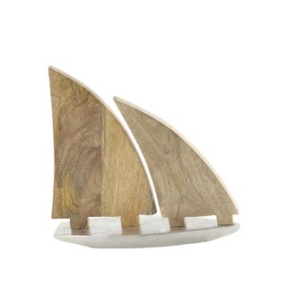Studio 350 Aluminum Wood Sailboat 13 inches wide, 13 inches high