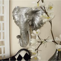 Studio 350 PS Elephant Head Plaque 16 inches wide, 16 inches high